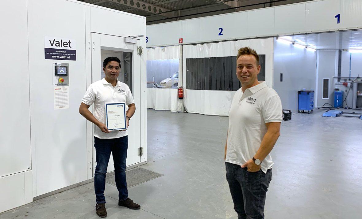 2020 - Valet FOCWA certificering - foto persbericht - Corona proof - Louis en Rob