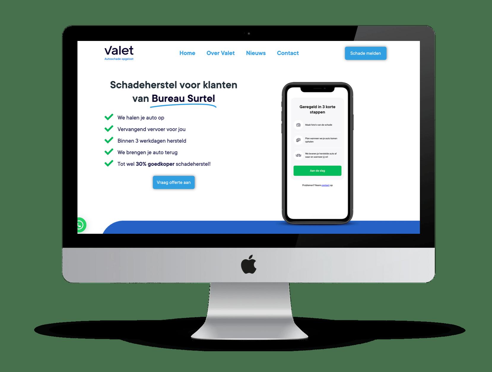 Valet intermediairs - Surtel desktop